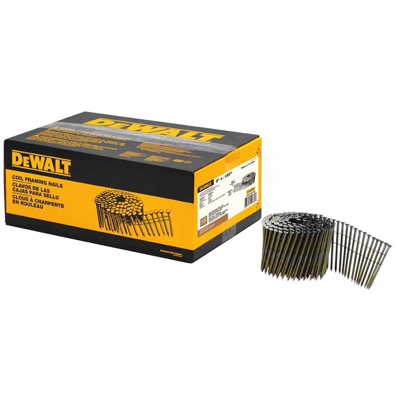 dewalt DWC10P120D 15 degree coil framing nails | CarrollConstSupply